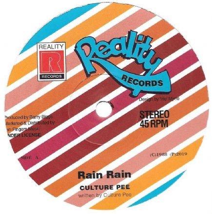 Culture Pee - Rain Rain / version (Reality Records / Jah Fingers) 12